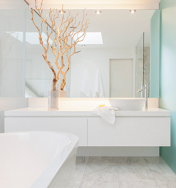 Bathroom Interior Used White Bathroom Furniture Decorations