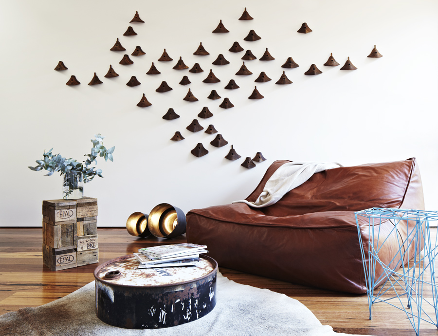Brown Sofa and Unique Brown Ornaments