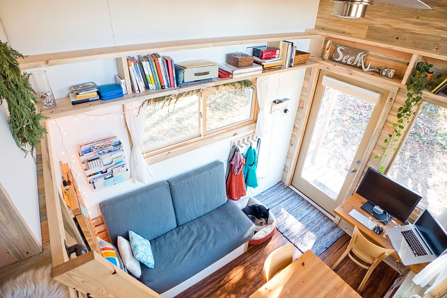House from the loft Small Space and Wooden Flooring Decorations Inspiration