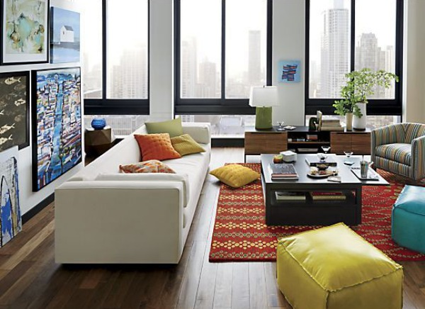 Living Space Modern Sofa Furniture and Wooden Flooring Decorations