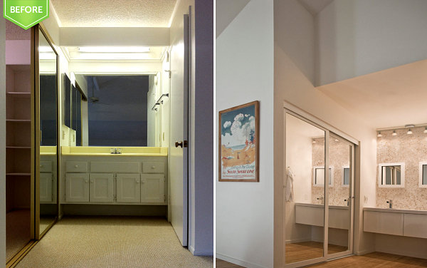 Renovation with Soft Brown Floor Made from Wooden Material and Bright Cream Color