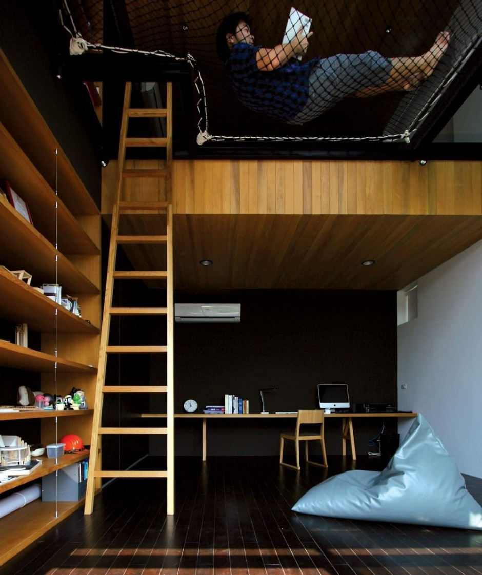 Residence Baan Moom Loft Area for Reading and Separing Both Floor Levels