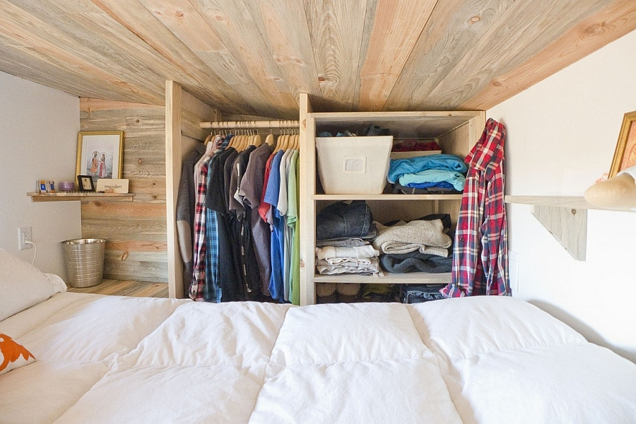 Small Wardrobe Furniture Made from Wooden Material