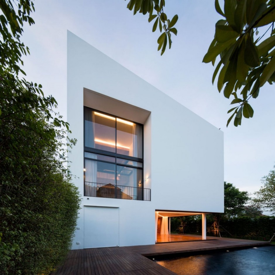 Three Floor Home Concept Featured with Inground Swimming Pool
