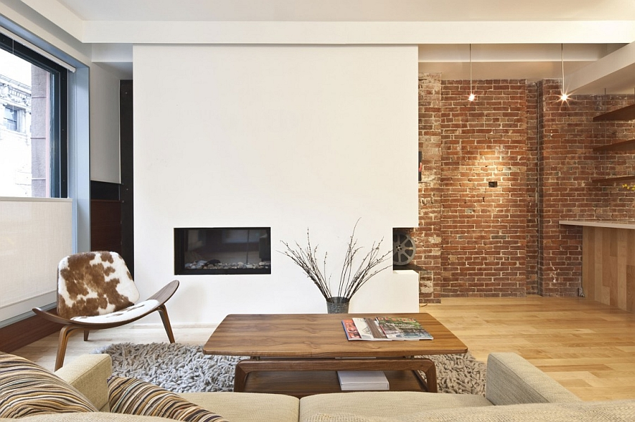 White Fireplace and Modern Sofa Furniture Decorations