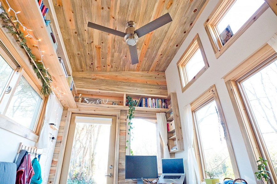 Wooden Ceiling Decoration and Unique Bookshelf Furniture s