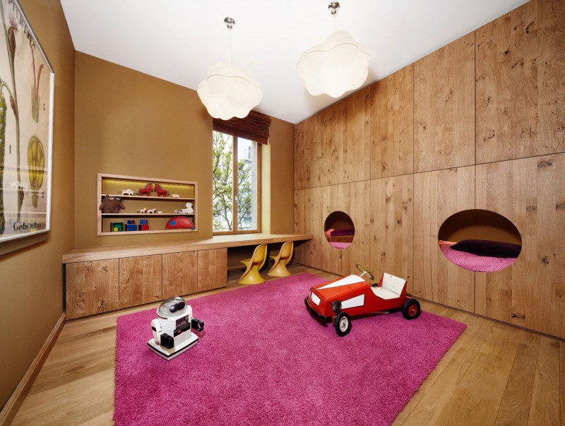 Wooden Floor as Punktchen Project Home Kids Bedroom Focal Point besides Colorful Items