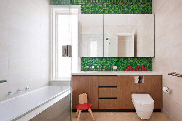 Wooden Vanity Furniture and Glass Shower for Inspiration