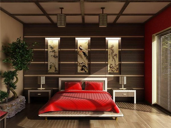 asian small bedroom design