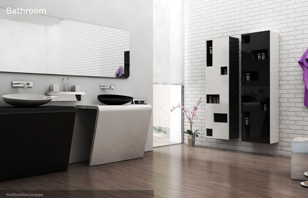 contemporary designer bathroom accessories