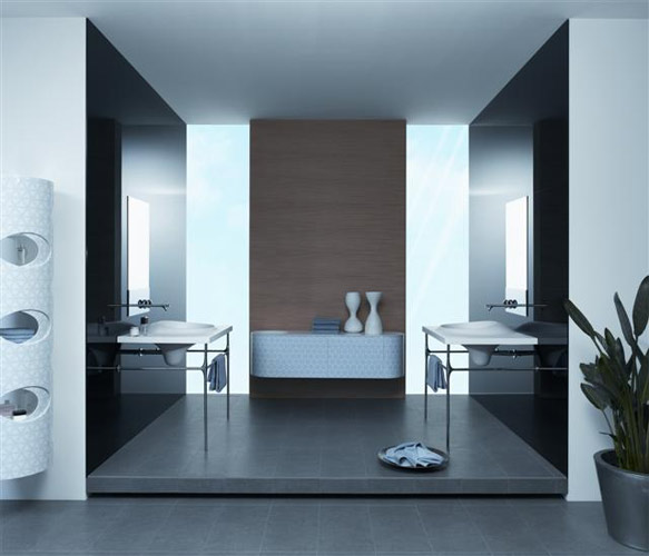 contemporary designer bathroom mirrors