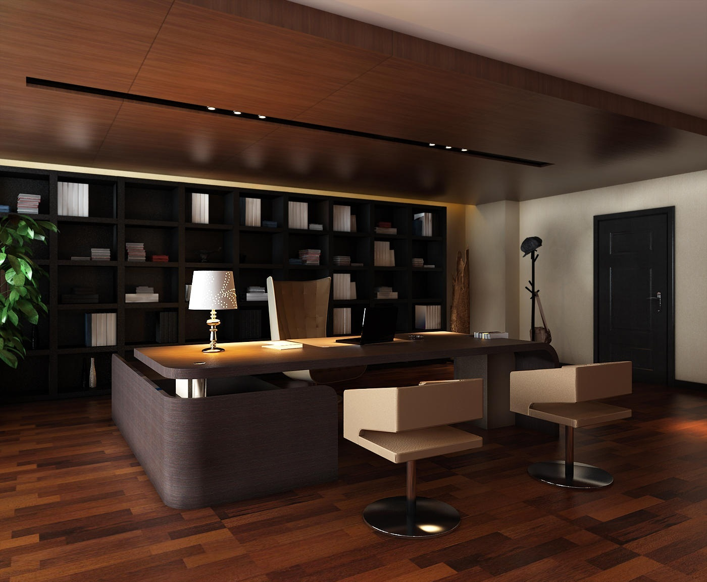 Decorating your executive office - New contemporary home office furniture style ...