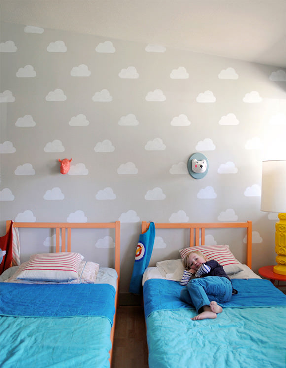 Cloud Wall Stencil