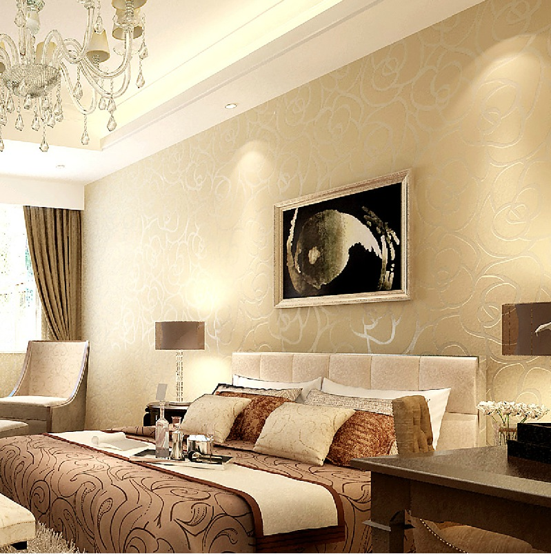Decorating your home with neutral color schemes for Wallpaper on walls home decor furnishings