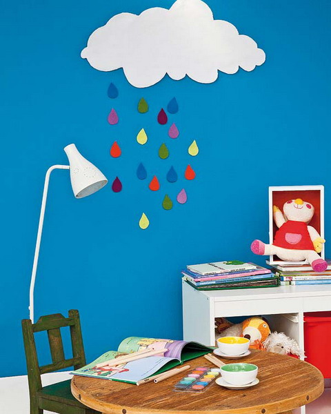 cloud stencil wall murals