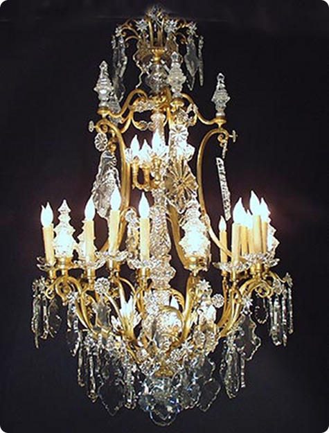 crystal chandelier lamp parts