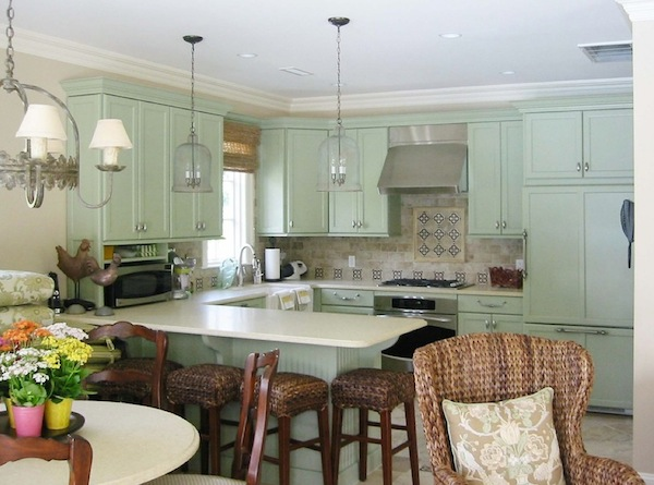Awesome Used Color In Your Dull Kitchen Neutral Cabinetry and Walls