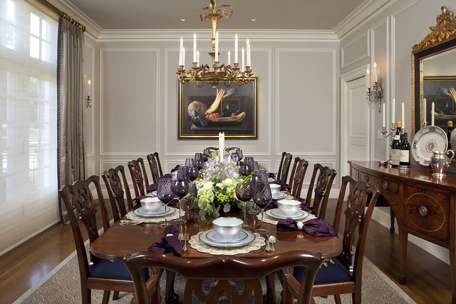 Georgian interior design ideas and styles for Traditional dining room art