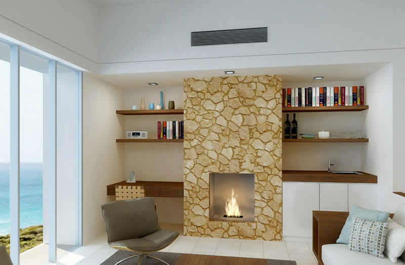 Fireplace Design Ideas Contemporary Family Room Idea In Other With