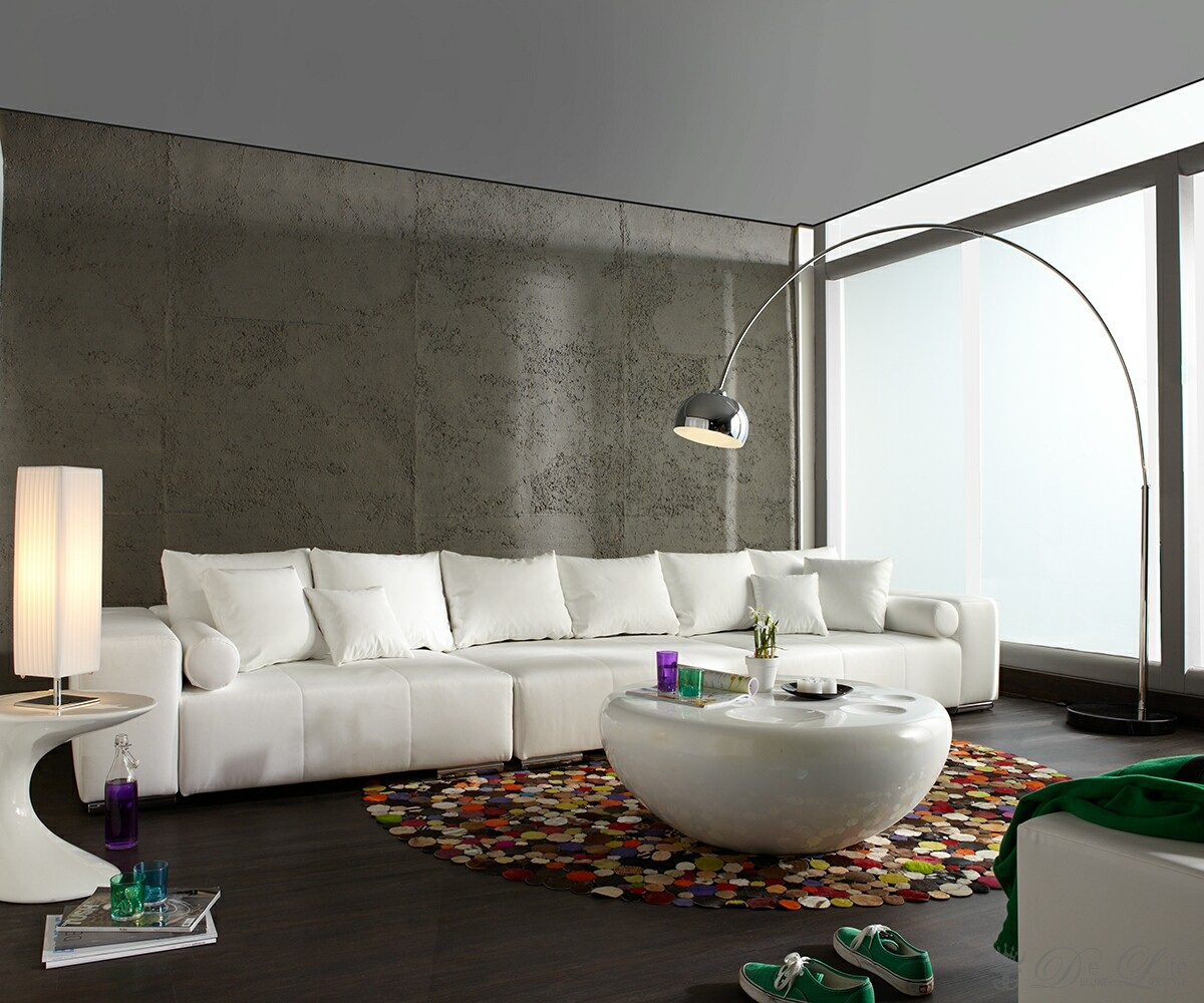 Living Room Decor with Modern Standing Lamp