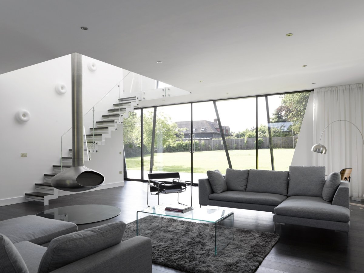 Modern Gray Living Room Interior Decorating Ideas and Tips