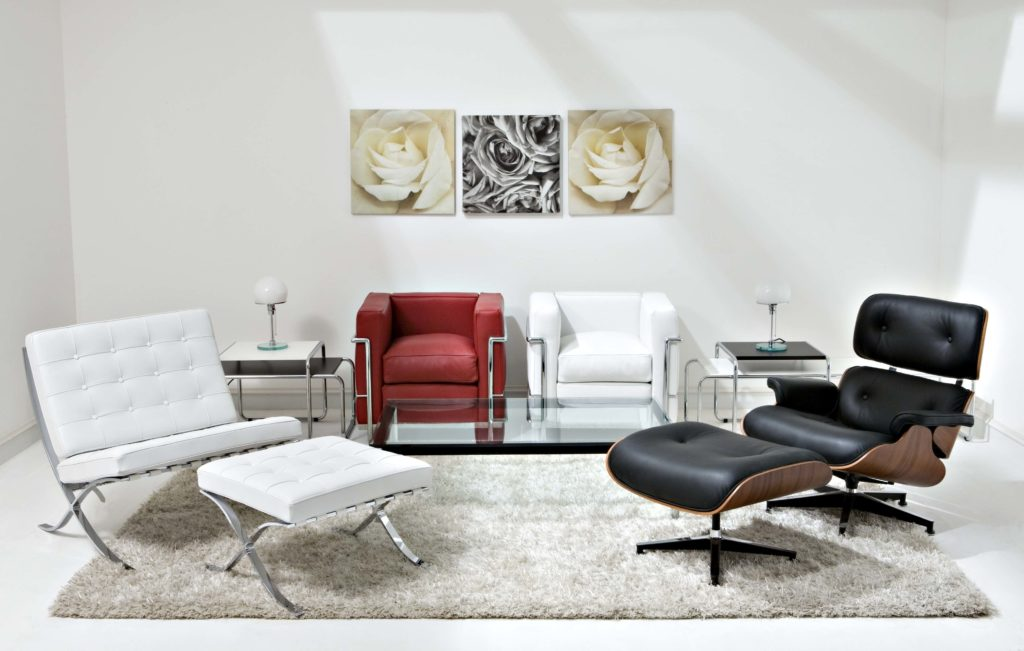 Eames Black and Brown Lounge Mid Century Modern Chair