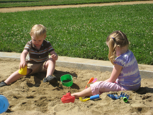 kids in a sandbox