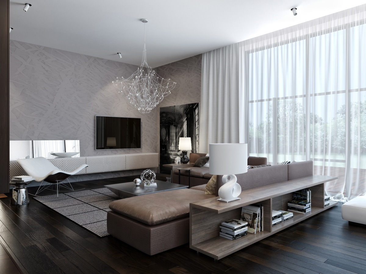Modern Living Room Idea - Neutral Colors