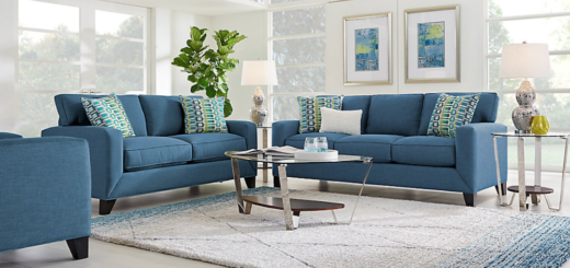 Choosing Your Living Room Furniture Designs - Marine Blue Sofa