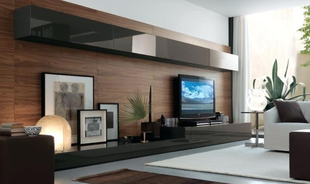 Exploring Ideas forLivingRoom Decor - Black Wall Mounted Bookcase and Vanity