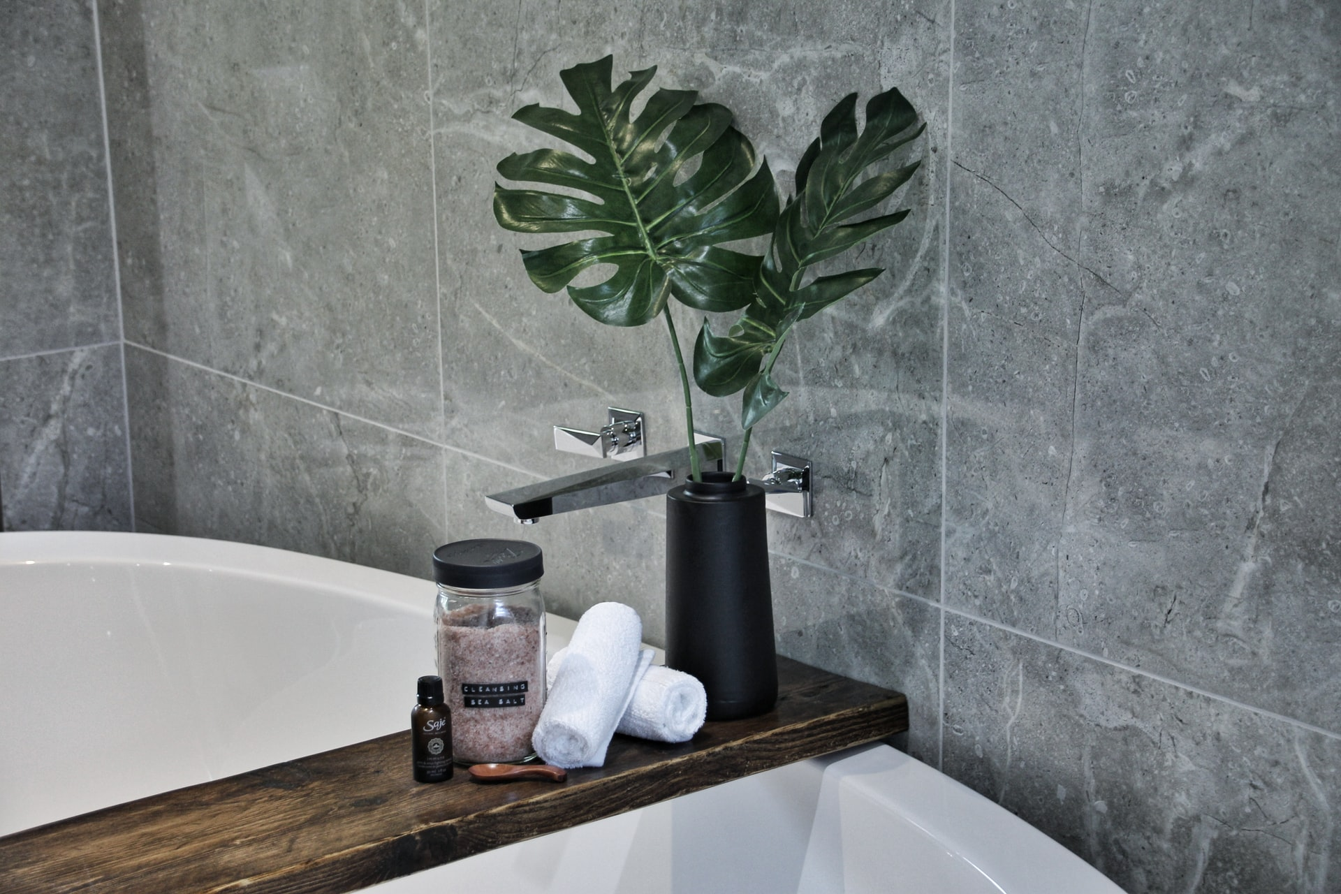 Grey and White Bathroom by Micheal Copley