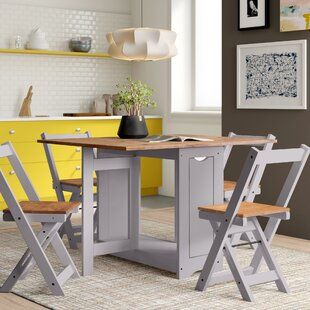 August Grove Alfreda Folding Dining Set with 4 Chairs [Source: https://pin.it/2gXNMab]