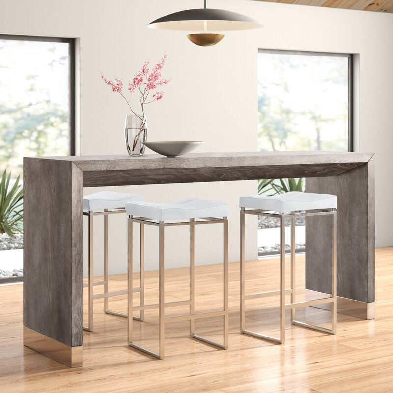 Bar-Styled Modern Dining Table and Chairs [Source: https://pin.it:2hSFcJg]