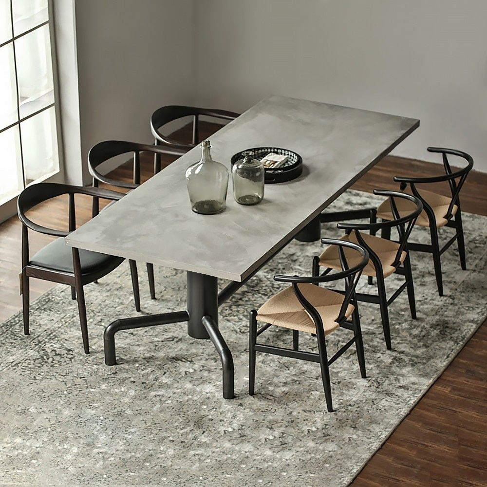 Industrial Dining Table Set of 6 [Source: https://pin.it/or3aeUU]