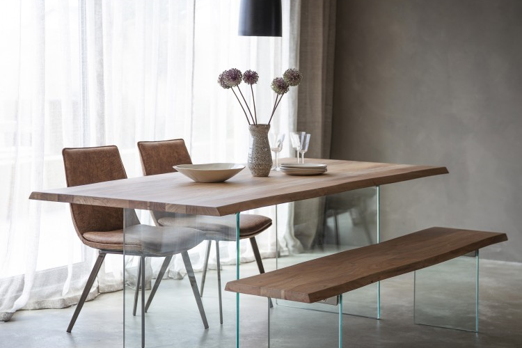 Modern Dining Table with Bench Style Seating [Source: https://pin.it/2mL67oR]