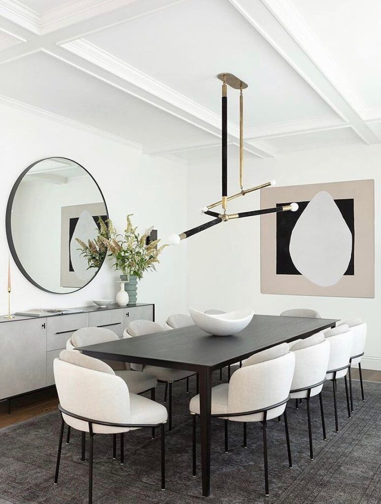Sleek Modern Dining Table and Chairs [Source: https://pin.it:24NH2sw]