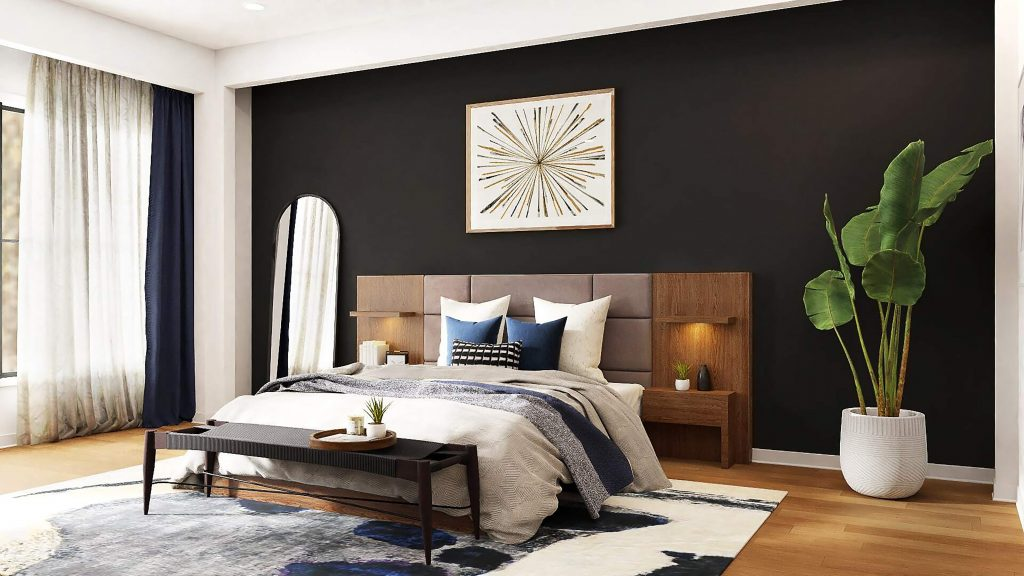 Wood and Fabric Headboard Combination By Spacejoy [unsplash]